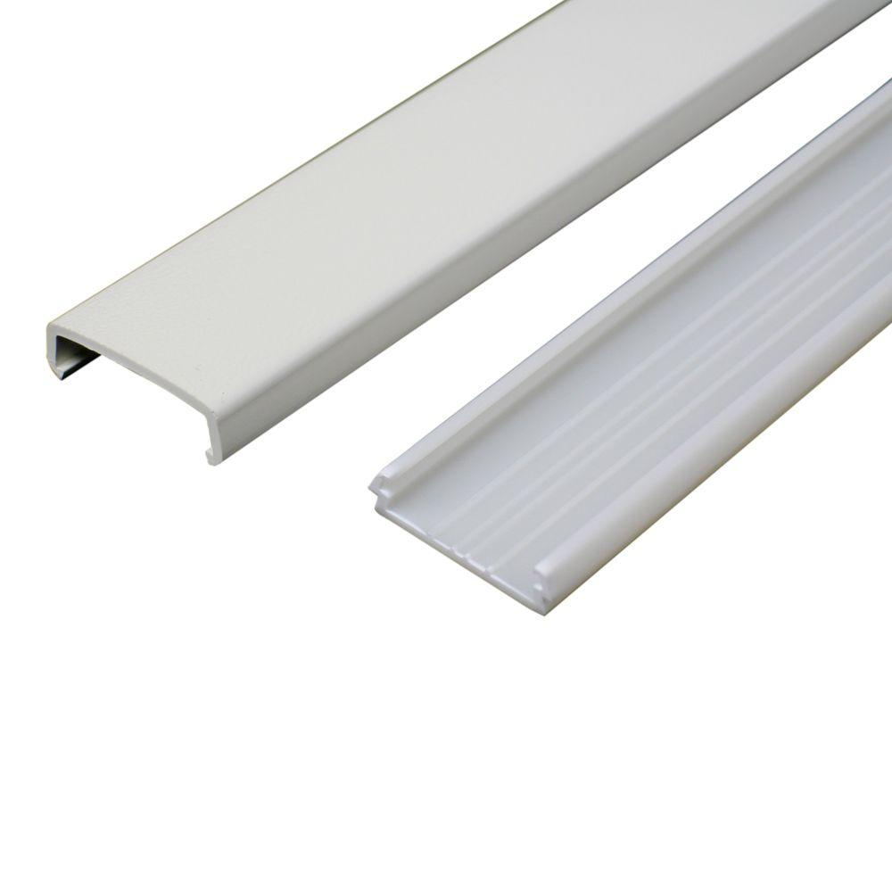 Legrand Wiremold 5 ft. Non-Metallic Raceway Wire Channel, White-NMW1 ...