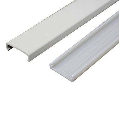 5 ft. Non-Metallic Raceway Wire Channel, White