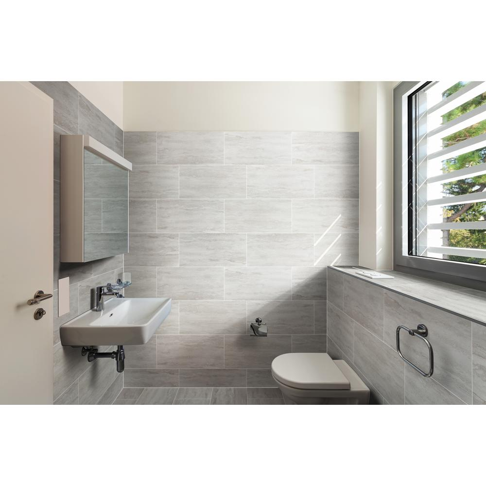 Msi Nyon Gray 12 In X 24 Polished Porcelain Floor And Wall Tile 16 Sq Ft Case