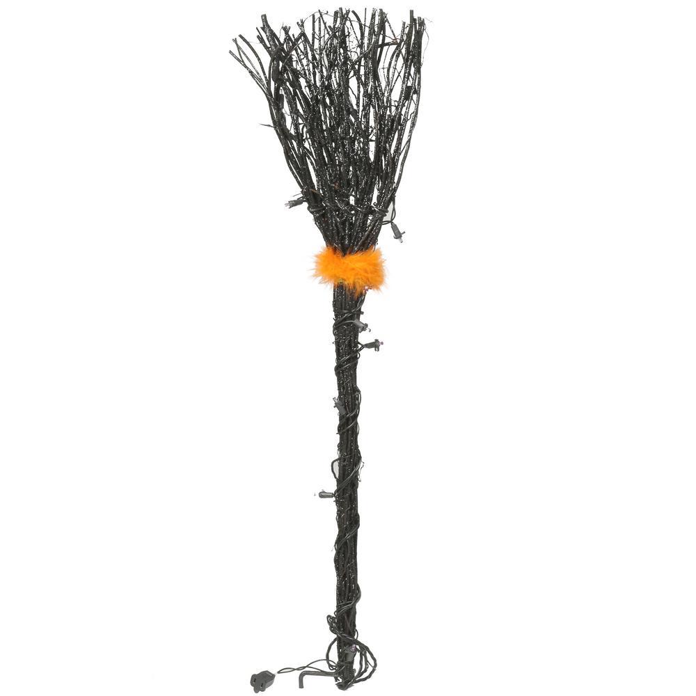 36-Light Black Grapevine Broom Path Lights (Set of 3)