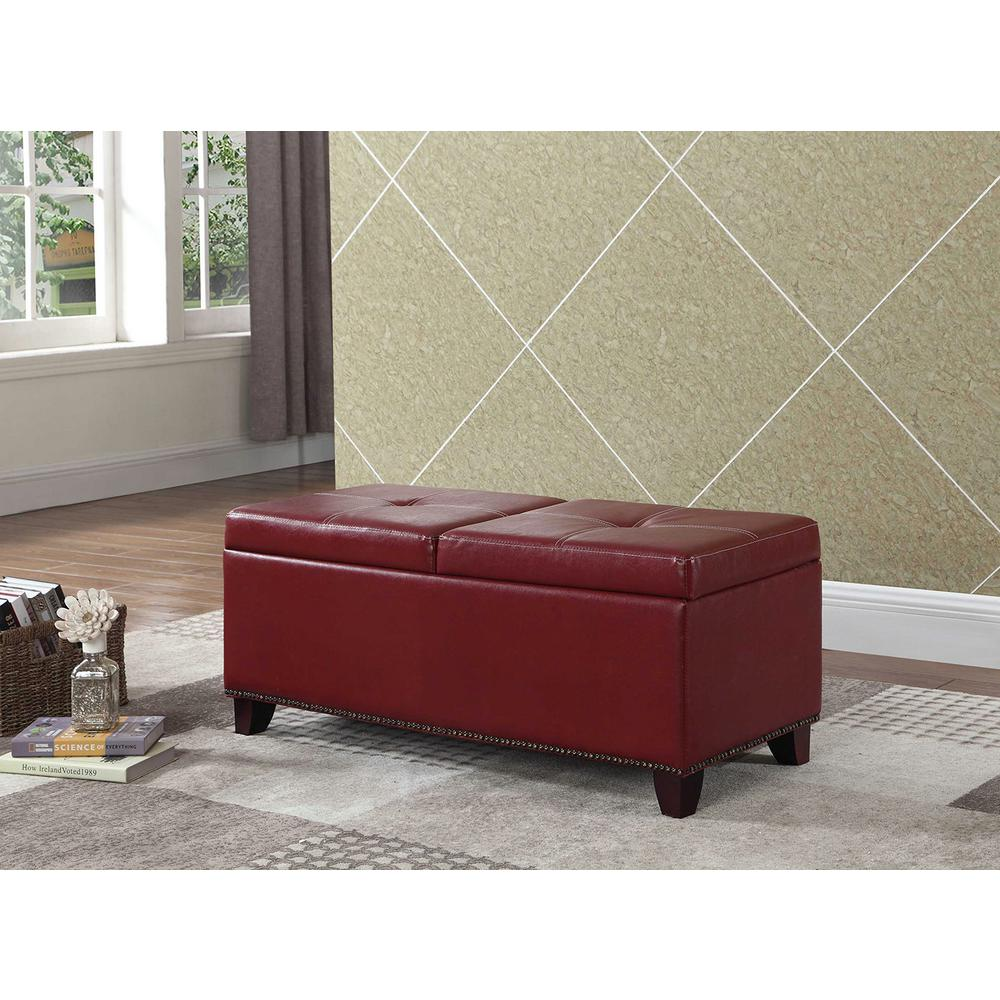 15 in. Red Pull-Out Storage Bench