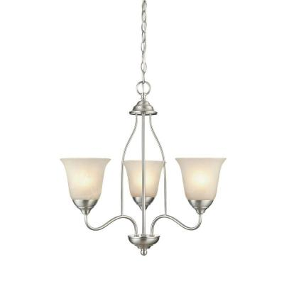 Clinton 3-Light Satin Nickel Chandelier