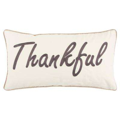 Christmas Thankful 14 in. x 26 in. Decorative Filled Pillow