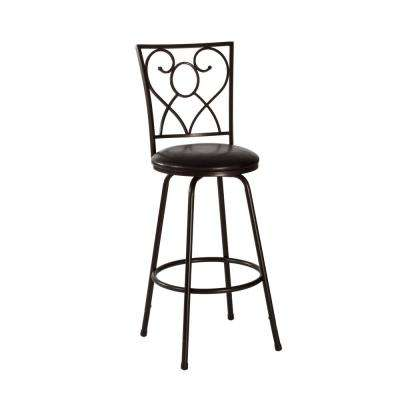 Bellesol 26 in. Brown Swivel Cushioned Counter Stool