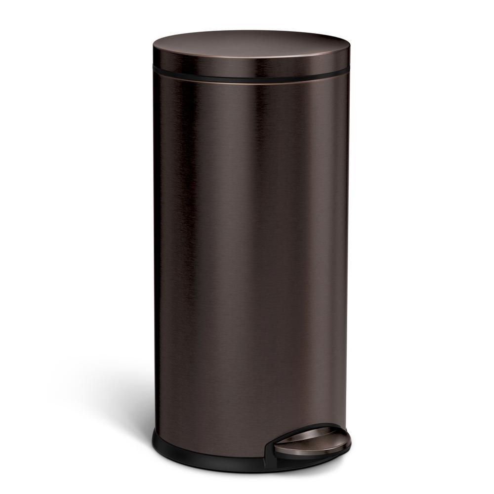 Bronze/copper metallic - Indoor - Trash Cans - Trash & Recycling ...