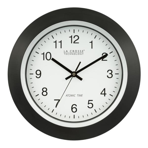 La Crosse Technology 14 In Round Analog Black Frame Wall Clock 404 1236 The Home Depot