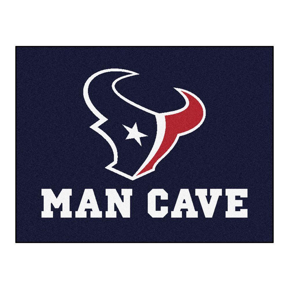 Houston Texans Blue Man Cave 3 ft. x 4 ft. Area Rug