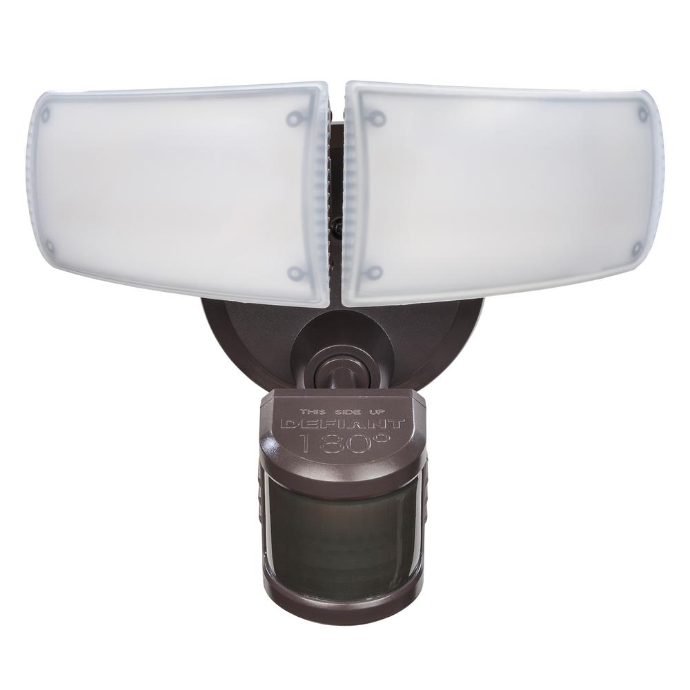 Defiant 180° Bronze Motion Activated Outdoor Integrated