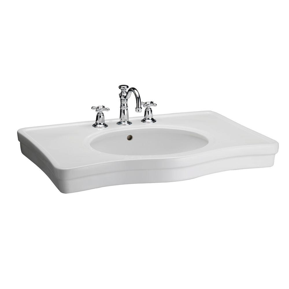 Elizabethan Classics English Turn 35 in. Console Sink Basin Only in White