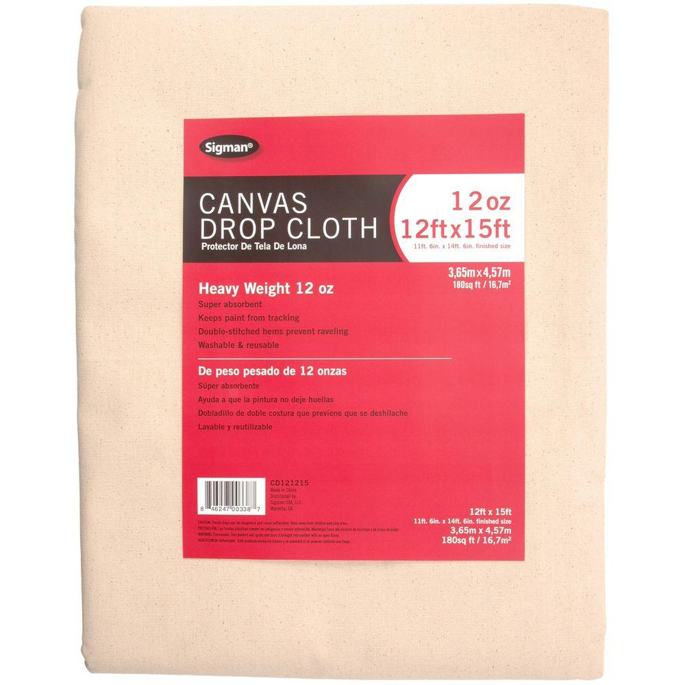 Sigman 11 Ft 6 In X 14 Ft 6 In 12 Oz Canvas Drop Cloth