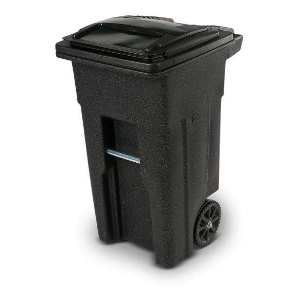 32 Gal. Blackstone Trash Can with Wheels and Attached Lid