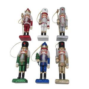 5.2 in. Nutcracker Christmas Ornament Assortment (6-Pack)