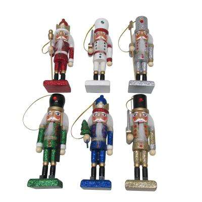 nutcracker christmas ornament assortment 6 pack - Wooden Christmas Tree Decorations