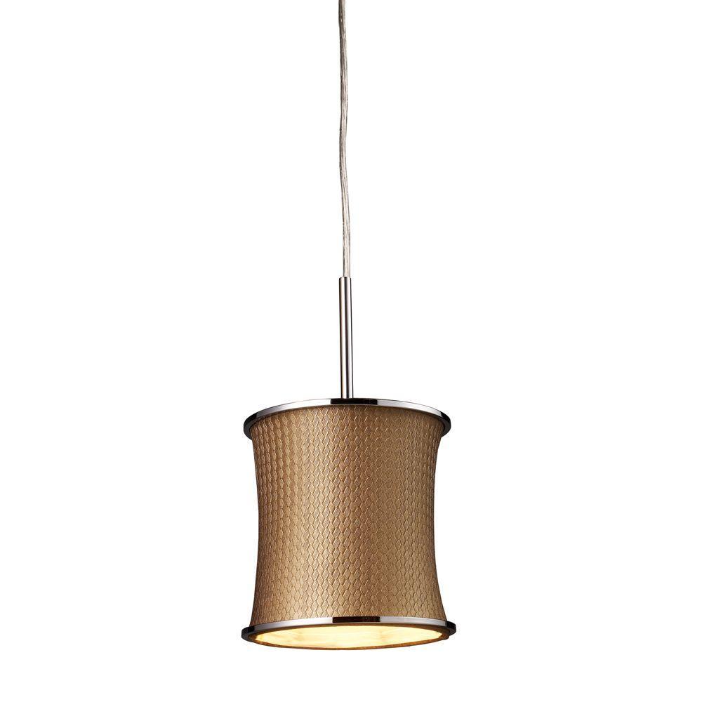 Titan Lighting 1-Light Polished Chrome Ceiling Pendant