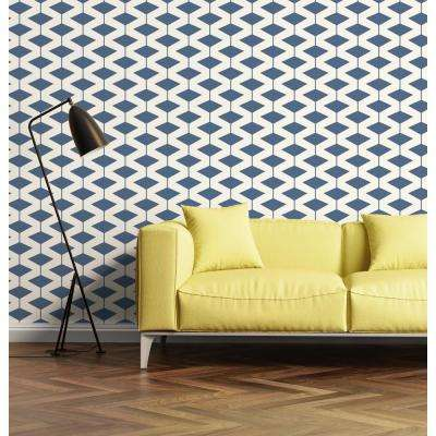 Art in Chaos Collection Abacus in Coastal Blue Removable and Repositionable Wallpaper