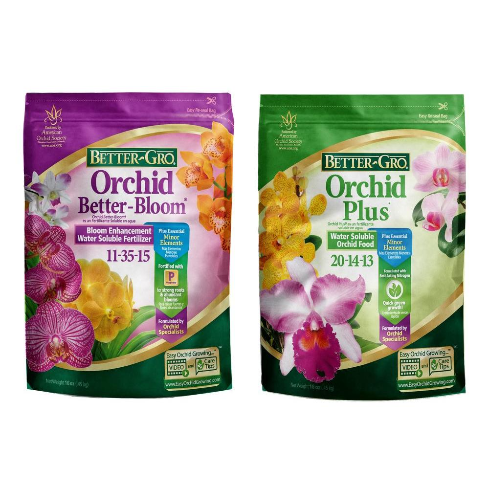 Better-Gro 1 lb. Orchid Plant Food Combo Pack