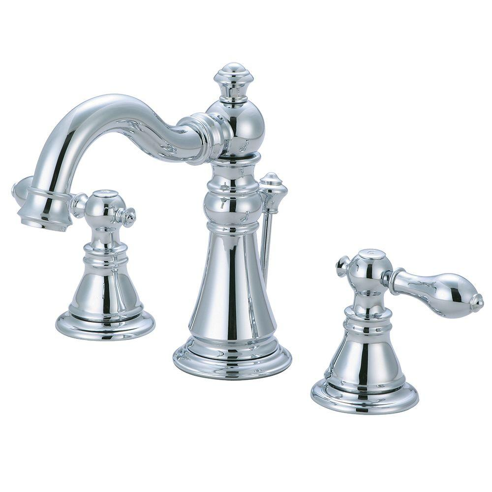 Kingston Brass Classic 8 In Widespread 2 Handle High Arc Bathroom Faucet In Chrome Hfs1971acl