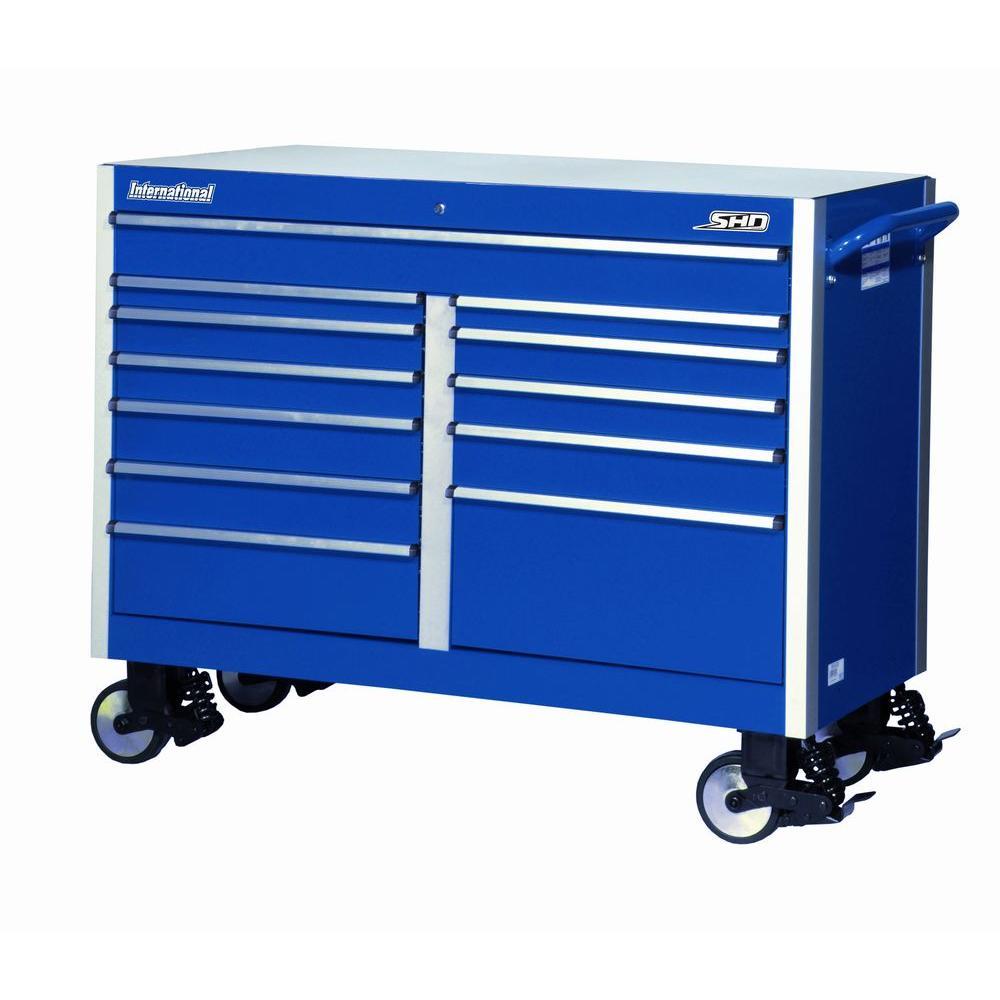 International SHD Series 54 in. 12-Drawer Cabinet, Blue