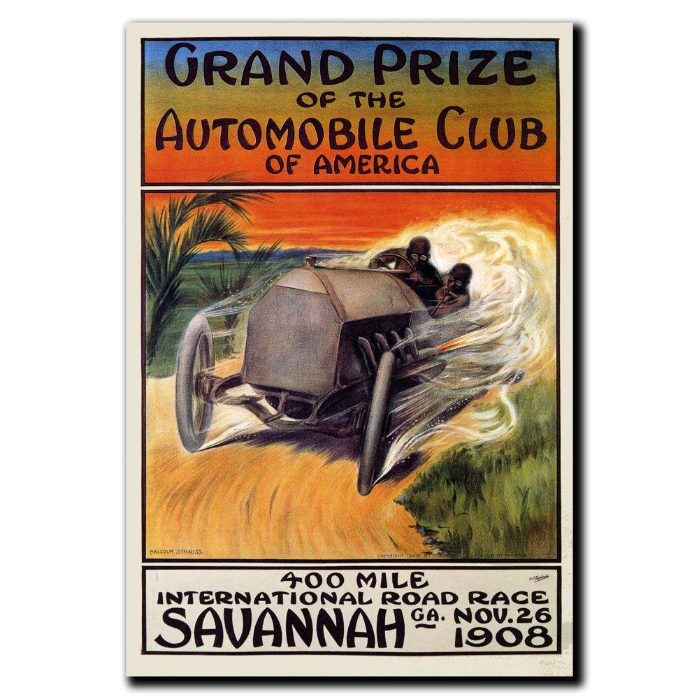 35 in. x 47 in. Grand Prize of the Automobile Club
