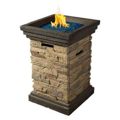 20 in. W x 29 in. W  Light MGO Culture Stone Propane Side Fire Pit Table