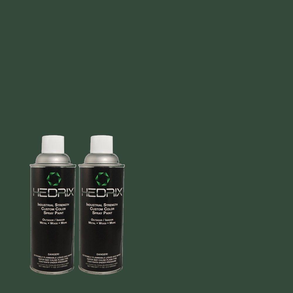 Hedrix 11 oz. Match of 8358 Teal Gloss Custom Spray Paint (2-Pack)