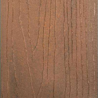 Infuse 1 in. x 5-3/8 in. x 1/2 ft. Rosewood Composite Decking Board Sample