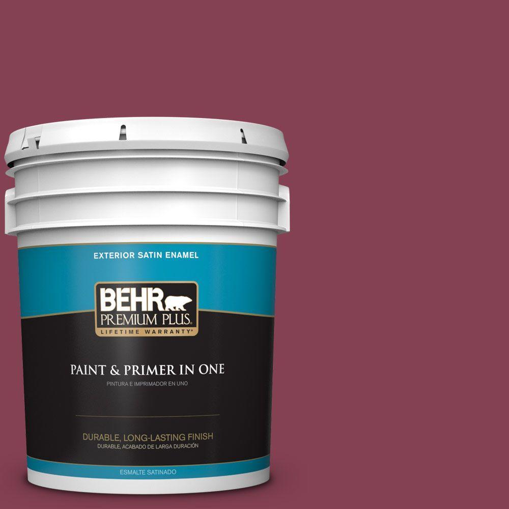 5-gal. #M130-7 Sugar Beet Satin Enamel Exterior Paint