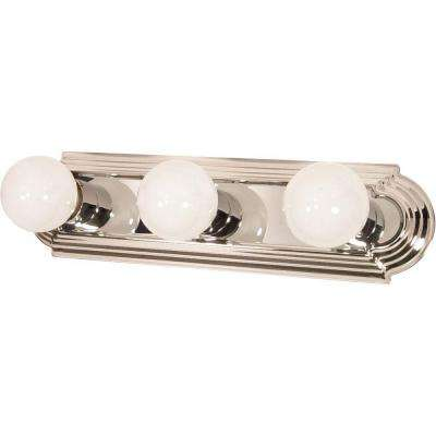 3-Light Polished Chrome Incandescent Wall Vanity Light