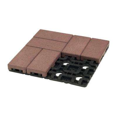 4 in. x 8 in. Village Composite Resurfacing Paver Grid System (8 Pavers and 1 Grid)