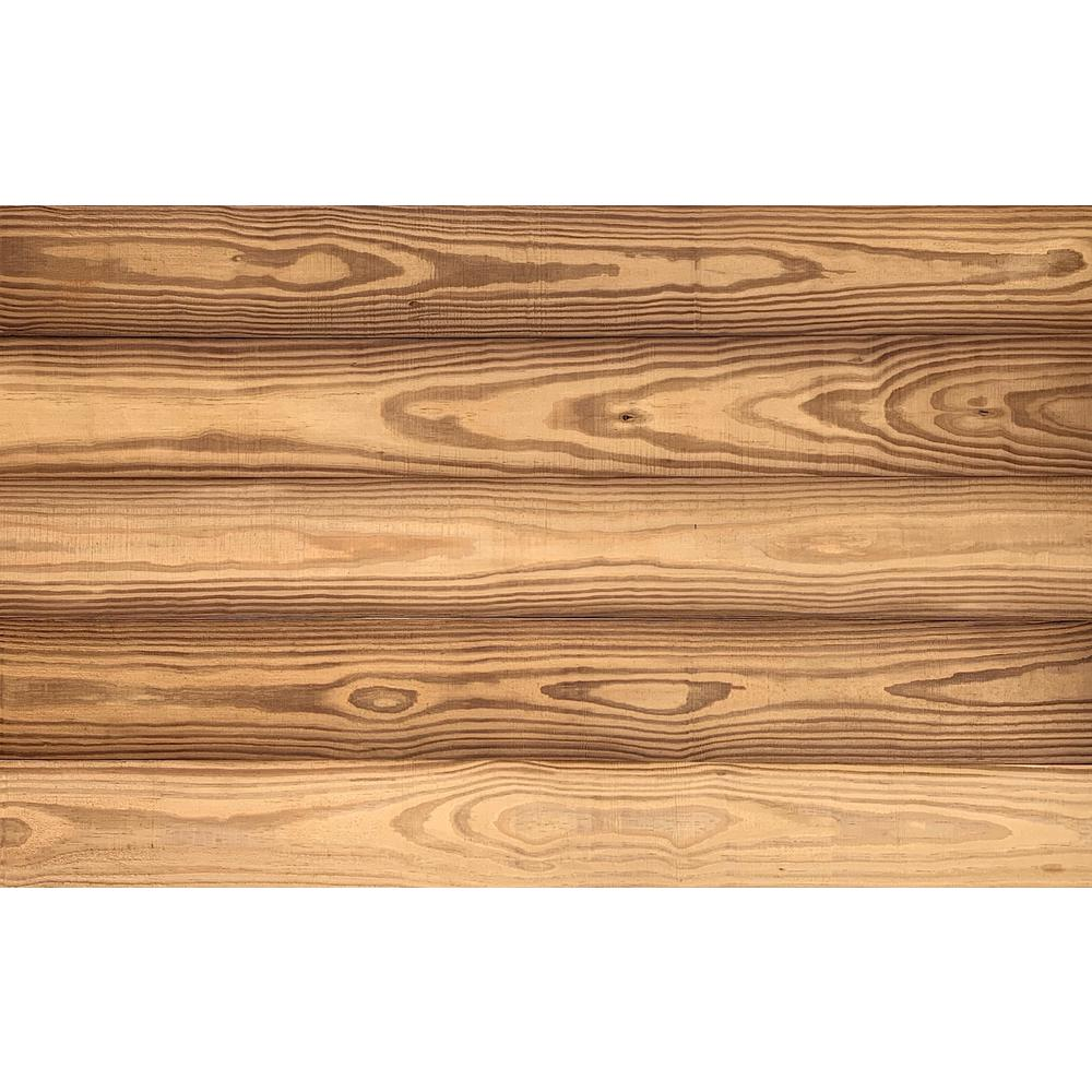 Easy Planking Thermo-treated 1/4 in. x 5 in. x 4 ft. Gold Color Barn Wood Wall Planks (10 sq. ft. per 6 Pack)