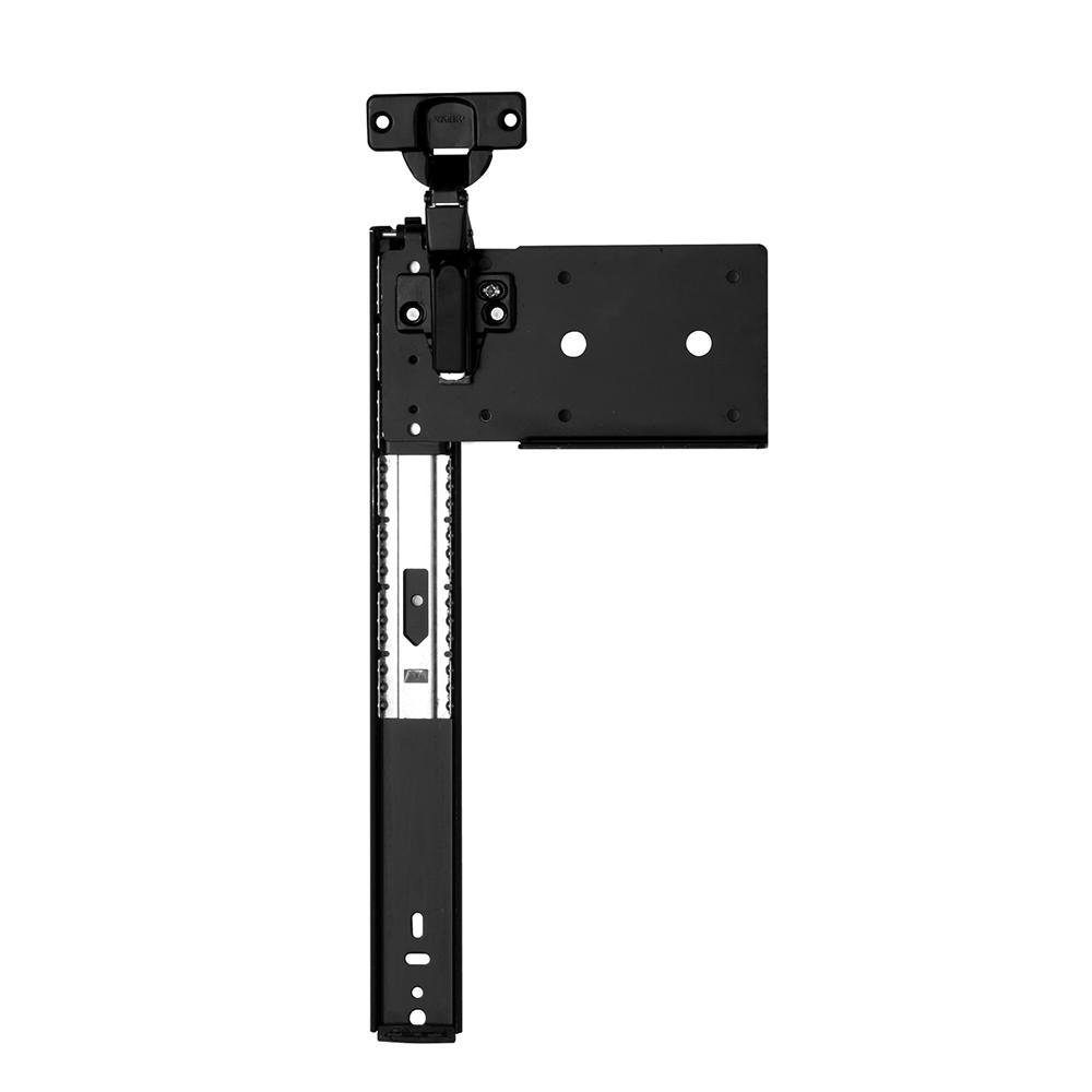 8080 Series 16 in. Ebony Black Pocket Door Slide (1-Pair for 1 Door)