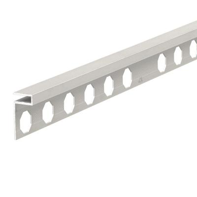 Novolistel 3 XS Matt Silver 3/8 in. x 98-1/2 in. Aluminum Tile Edging Trim
