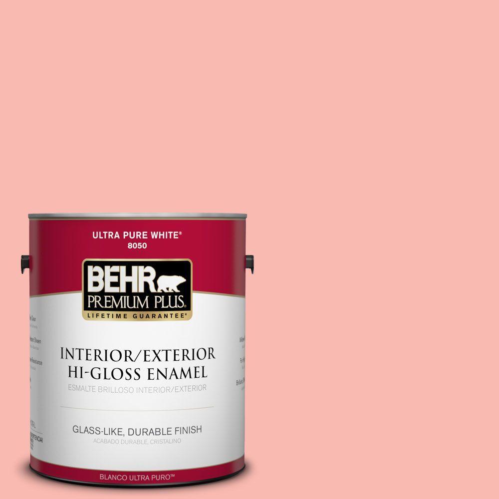 BEHR Premium Plus 1-gal. #170A-3 Ruffles Hi-Gloss Enamel Interior/Exterior Paint