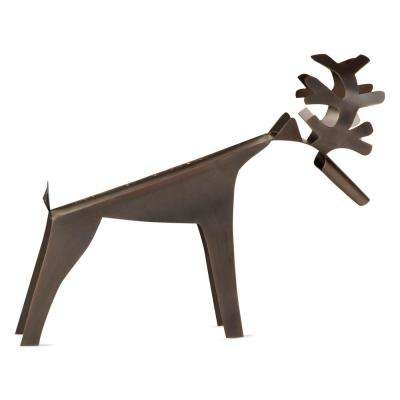 STag Iron Wine Bottle Holder