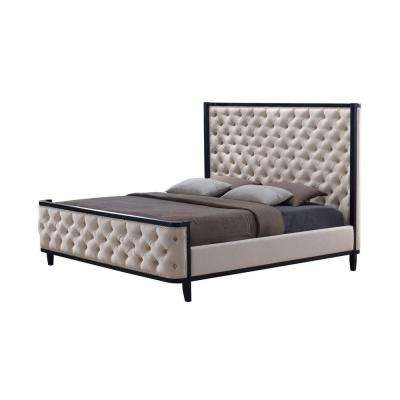 Kensington Khaki King Upholstered Bed