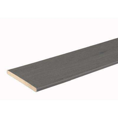 Tropical Collection 9/16 in. x 7-1/4 in. x 12 ft. Amazon Mist Riser Capped Composite Decking Board