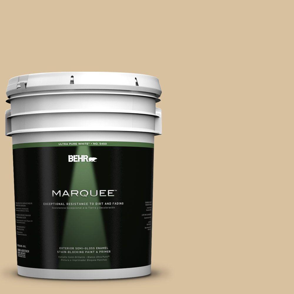 BEHR MARQUEE 5-gal. #UL160-7 Pale Wheat Semi-Gloss Enamel Exterior Paint