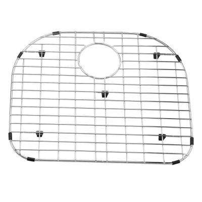 19 in. x 16 in. Stainless Steel Sink Grid with Black Rubber Feet
