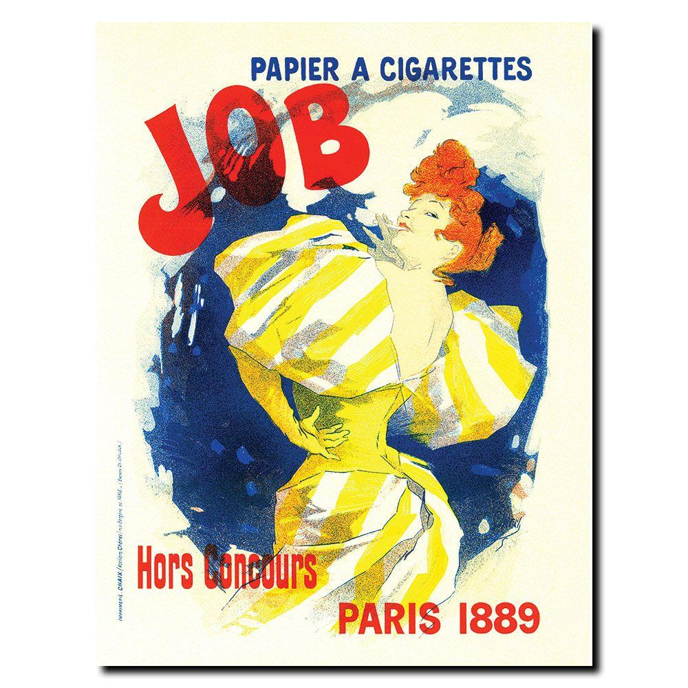null 18 in. x 24 in. Papier a Cigarettes Job Canvas Art