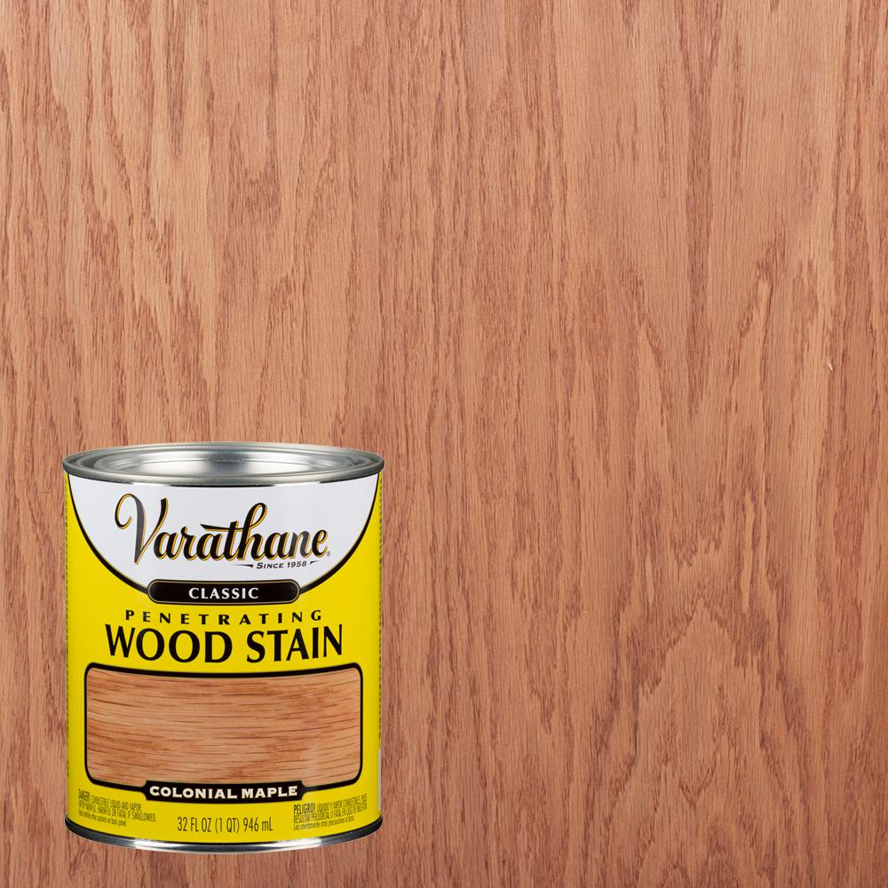 Varathane 1 Qt Colonial Maple Classic Wood Interior Stain 339707 The Home Depot