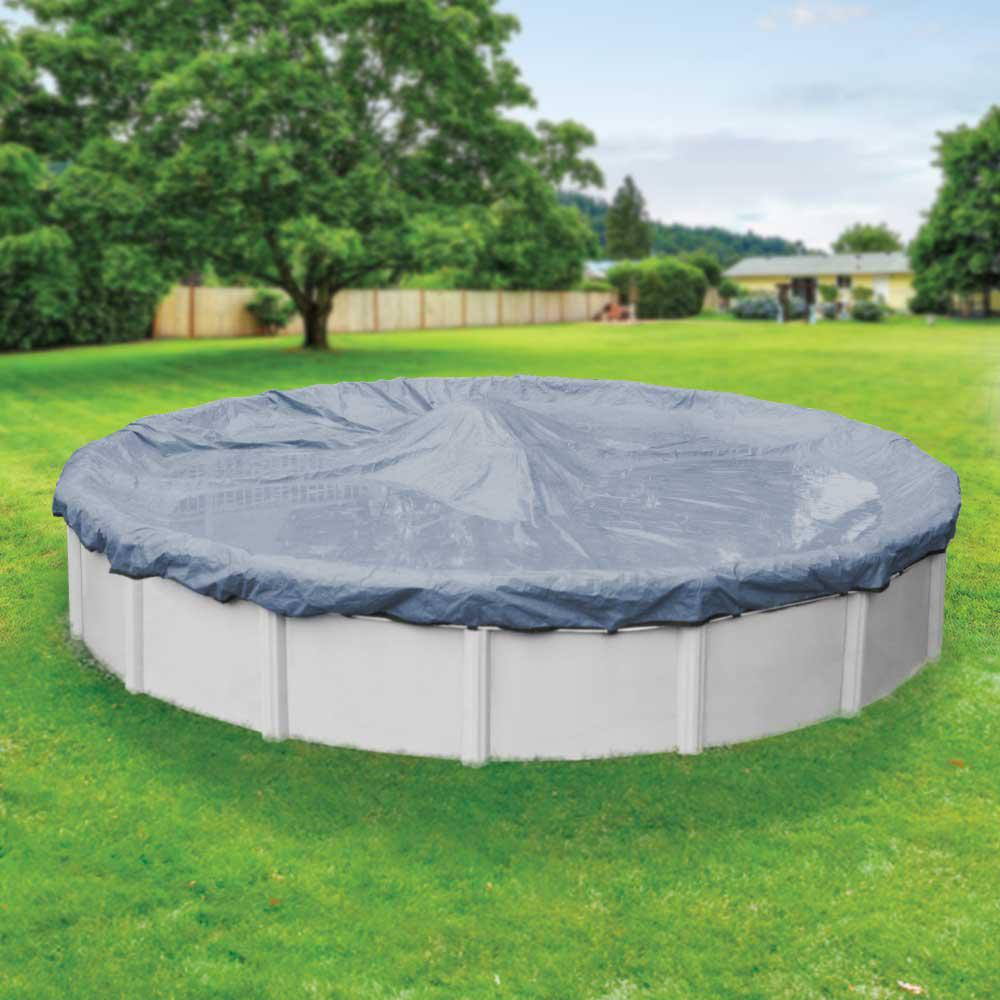 Robelle Value-Line 30 ft. Round Azure Blue Solid Above Ground Winter Pool Cover