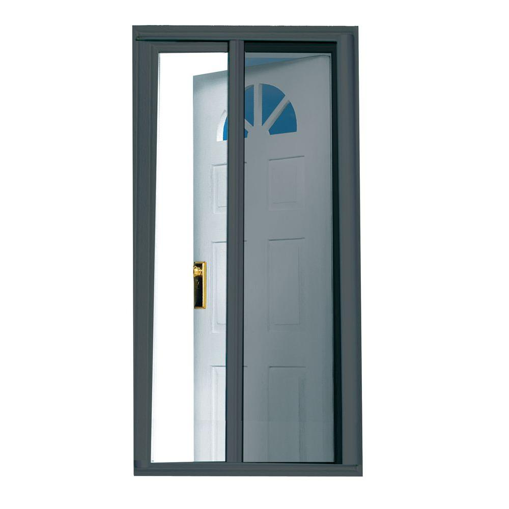 Entry Doors With Screens : Seasonguard in charcoal retractable screen
