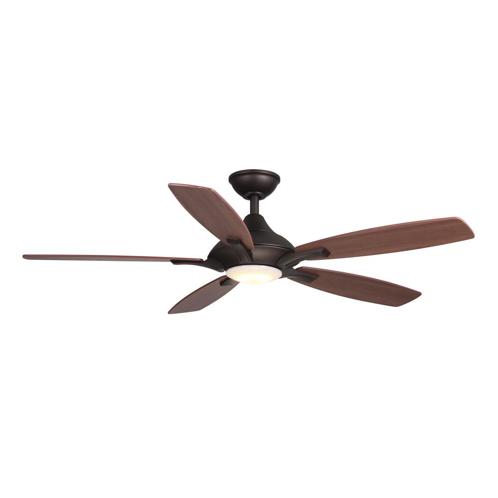 Home decorators collection petersford 52 in integrated Home depot kitchen ceiling fans