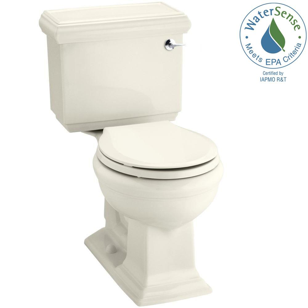 Memoirs Classic 2-piece 1.28 GPF Single Flush Round Toilet in Biscuit,