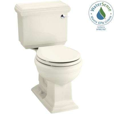 Memoirs Classic 2-piece 1.28 GPF Single Flush Round Toilet in Biscuit, Seat Not Included