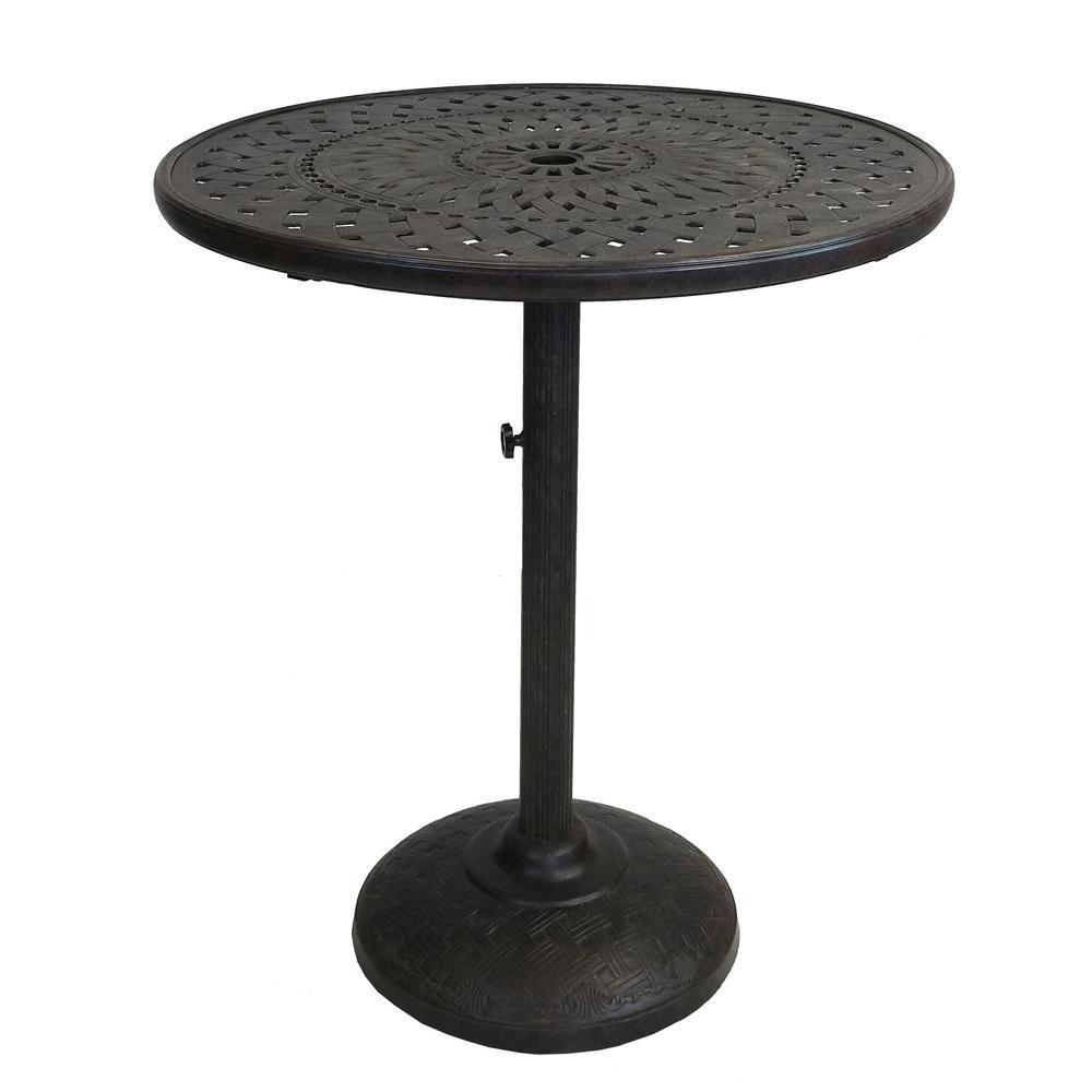 Belmont Cast Aluminum Patio Bar Height Dining Table