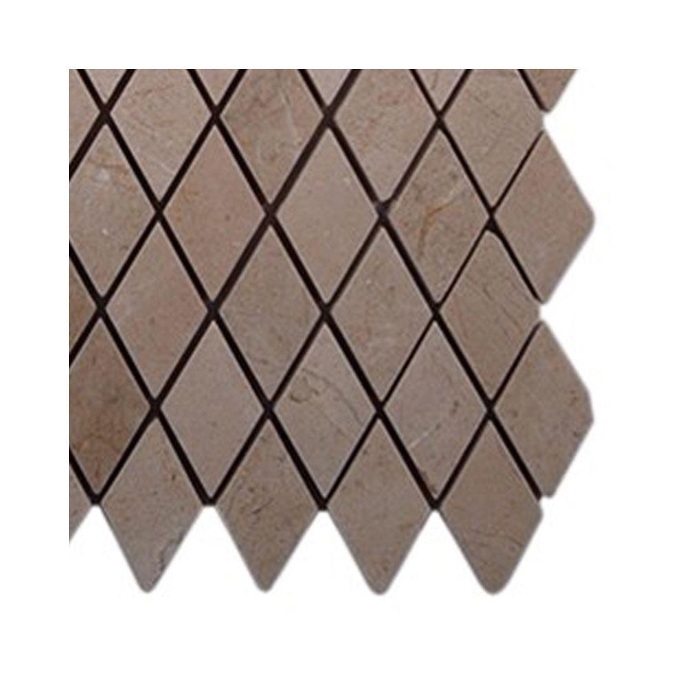 Splashback Tile Crema Marfil Diamond Marble Mosaic Floor and Wall ...