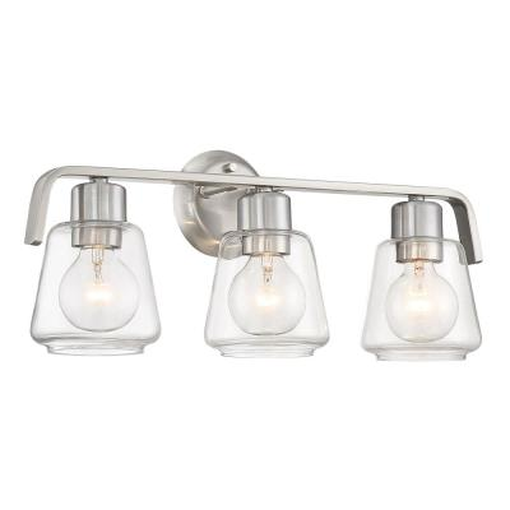 Riley 3-Light Satin Platinum Bath Bar Vanity Light