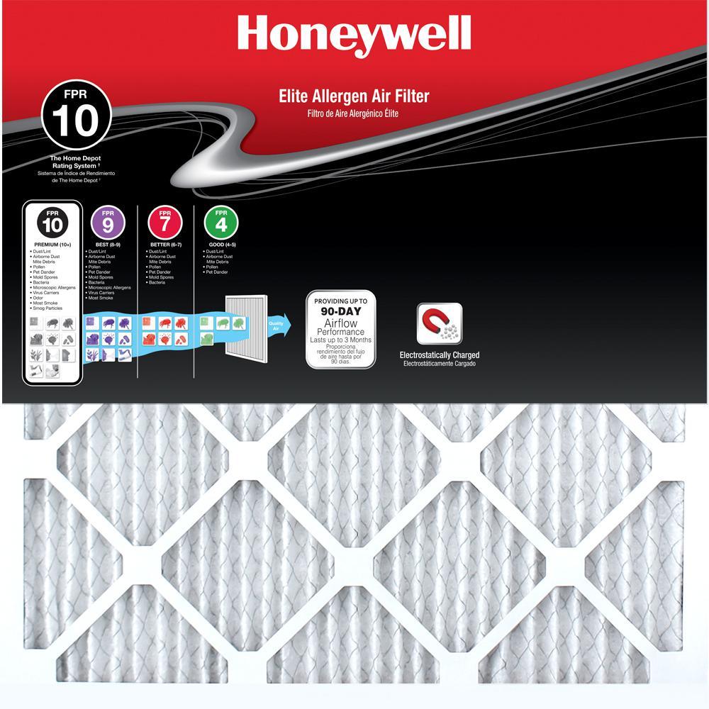 12 in. x 24 in. x 1 in. Elite Allergen Pleated FPR 10 Air Filter (12-Pack)