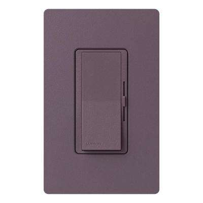 Diva Dimmer for Incandescent and Halogen, 600-Watt, Single-Pole or 3-Way, Plum